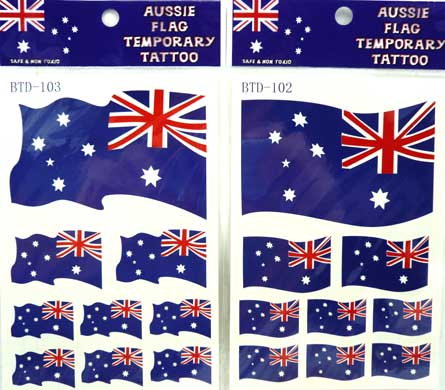 australian tattoo. Australian Flag Temporary