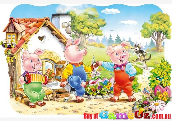 Three little pigs 20pc floor jigsaw puzzle for 100 piece floor puzzles