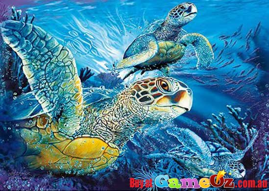 Clementoni Fluorescent Sea Turtles Jigsaw Puzzle 1000pc