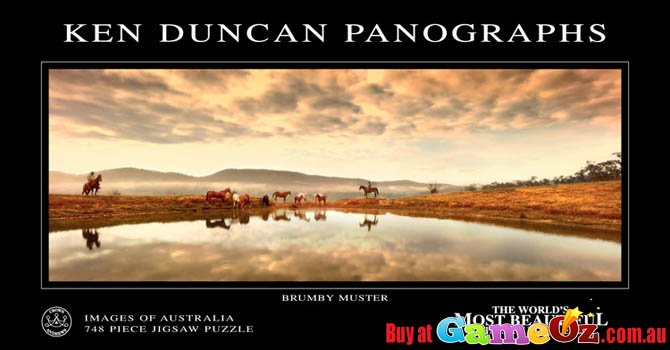 brumby muster vic jigsaw puzzle ken duncan australian landscape - Puzzle Muster