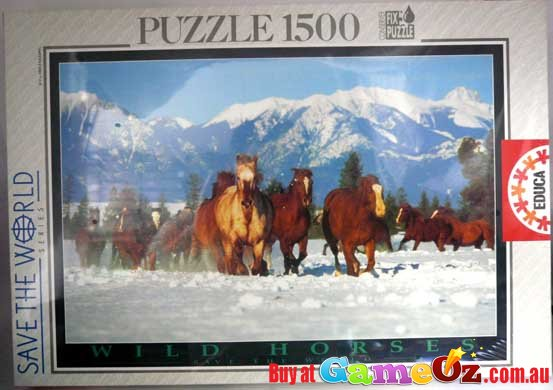 Wild Horses Save The World Series Educa Jigsaw Puzzle 1500 Pieces