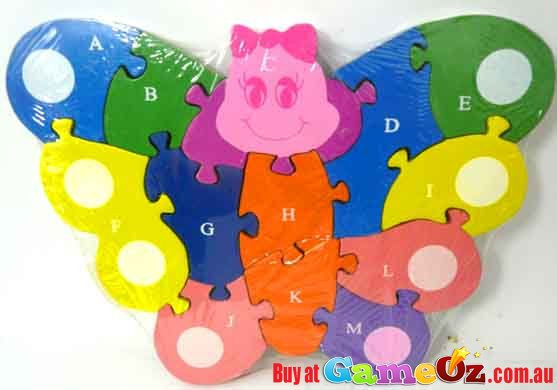 Butterfly Shaped Wooden Jigsaw Puzzle