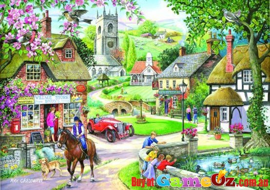 Feeding the Ducks HOP Jigsaw Puzzle 1000 Piece by Ray Cresswell