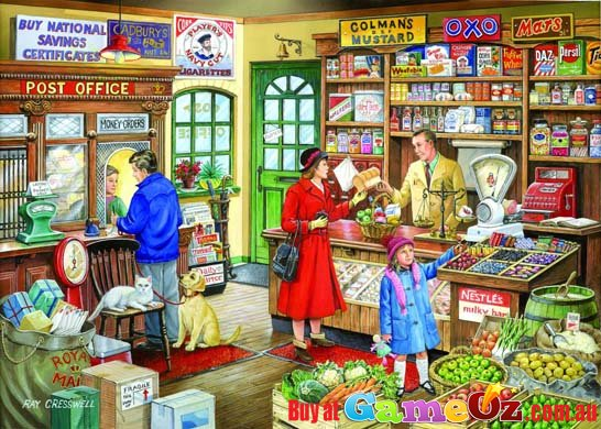 The Corner Shop Hop Jigsaw Puzzle 1000 Piece By Ray Cresswell
