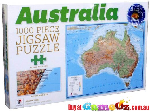 Map Of Australia Jigsaw Puzzle.Australia Map Jigsaw Puzzle 1000 Piece By Hinkler