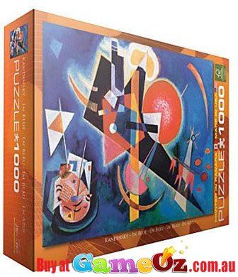 In blue eurographics jigsaw puzzle 1000 piece wassily for Puzzle kandinsky