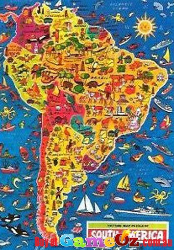 South America Jigsaw Puzzle 500pc By Jr Jigsaws