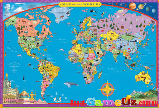 World Map 100 Piece Jigsaw Puzzle By Eeboo