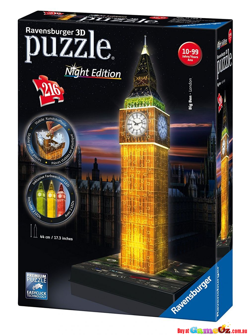 Big Ben London Night Edition Ravensburger 3d Jigsaw Puzzle