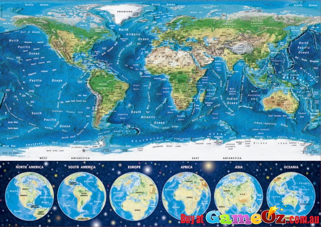 Educa 16760 world map glow in the dark 1000 piece jigsaw puzzle gumiabroncs Gallery