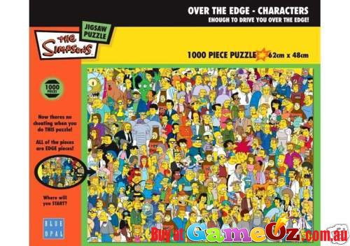 The Simpsons Over The Edge 1000 Pc Jigsaw Puzzle