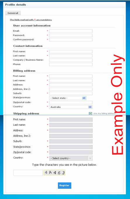 How to register to place an order