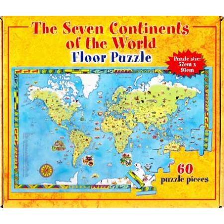 The seven continents of the world floor jigsaw puzzle 60pc for 100 piece floor puzzles