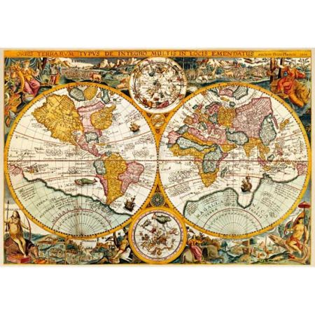 historical world map jumbo jigsaw puzzle 3000pc