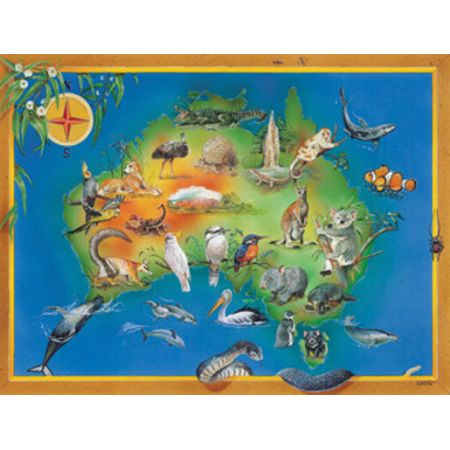 Map Of Australia Jigsaw Puzzle.Map Of Australia Ravensburger Jigsaw Puzzle 100pc
