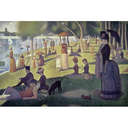 160 pieces Miniature real puzzle Seurat. It works