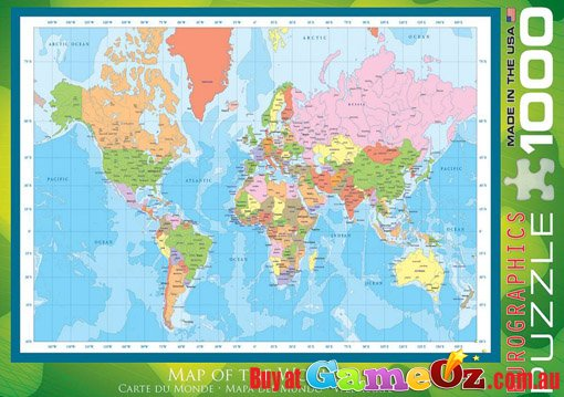Jigsaw puzzles 1000 pieces the world map peak ebay 3d render of a globe world map comic style 1000 piece jigsaw puzzle 05135 gumiabroncs Gallery