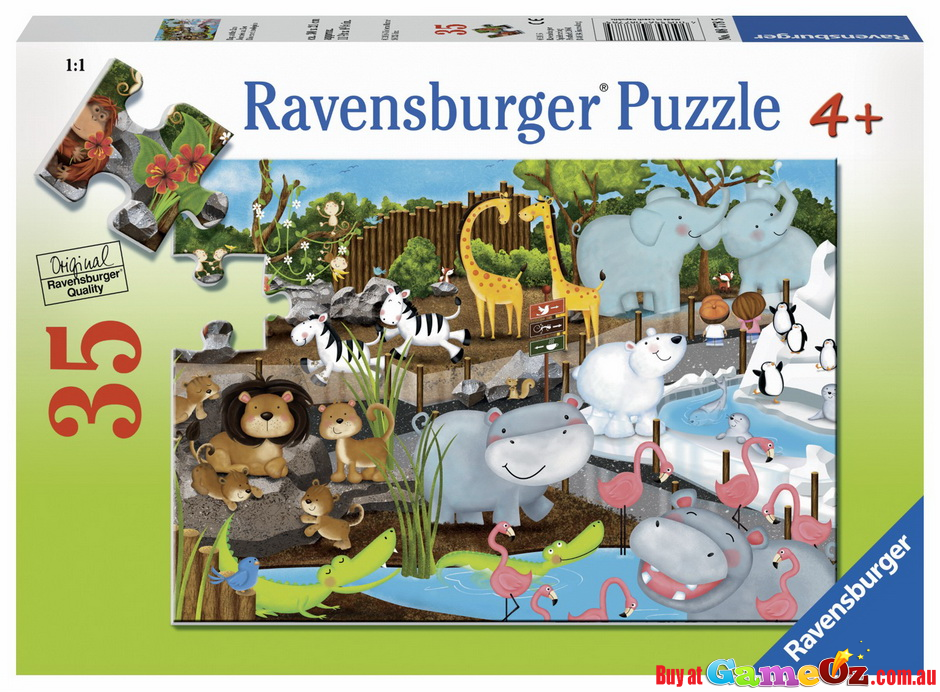 Day At The Zoo Ravensburger Jigsaw Puzzle 35 Piece