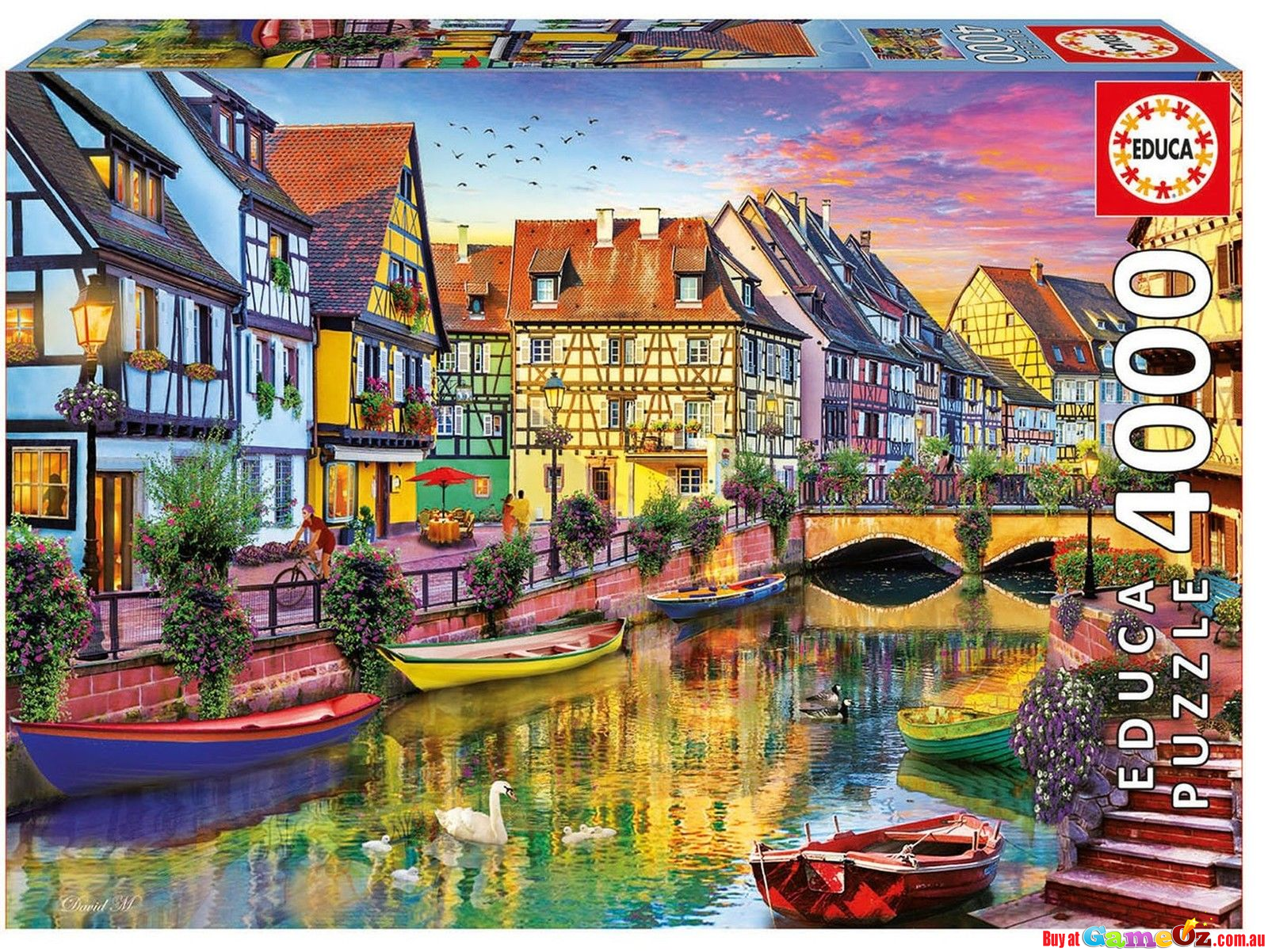 educa 17134 colmar canal france jigsaw puzzle 4000 pieces. Black Bedroom Furniture Sets. Home Design Ideas