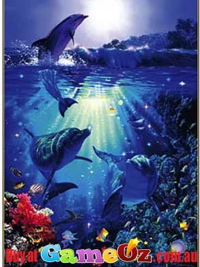 Dolphin in the Sun Christian Riese Lassen Puzzle 1000pc